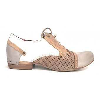 Naisten kengät laced Derby Clocharme Lasered nahka Norsunluu kivi Ds15cc21