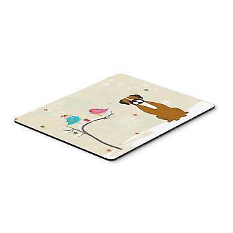Caroline'S Schätze Weihnachtsgeschenke, flashy Fawn Boxer Mouse Pad, Multicolor, 7.75X9.25 (Bb2588Mp)