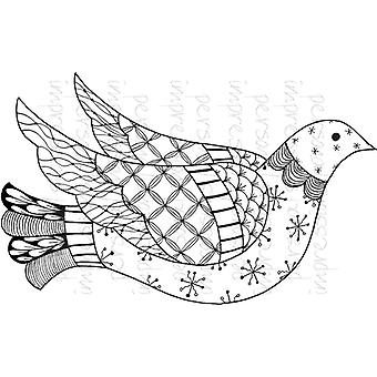 Lindsay Mason Designs Zendoodle Dove Ready To Go A6 Clear Stamp