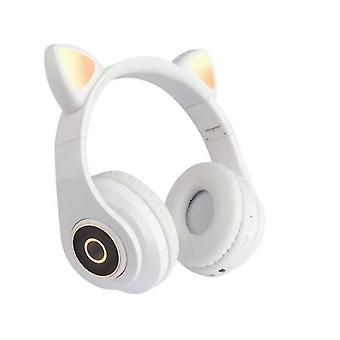 Bluetooth Headphone With Hi Fi Stereo, Soft Memory Protein Earmuffs,detachable Cat Ear