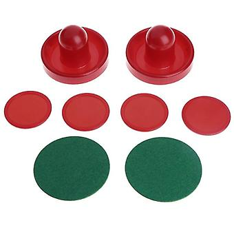 1set Air Hockey Accessories Goalies Puck Felt Pusher Mallet Adult Table Games