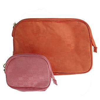 Estee Lauder '2st Satin-Touch Oranje & Pink' Cosmetische Tas Set Nieuw