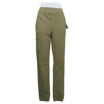 Denim & Co. Women's Pants Comfy Knit Denim Jogger Green A392114