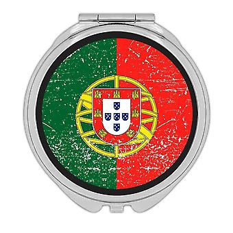 Gift Compact Mirror: Portugal Flag