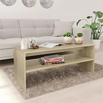 vidaXLコーヒーテーブルソノマオーク100×40×40 cmのチッボード