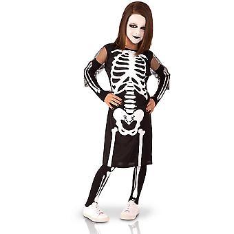Volledige skelet meisje vermomming