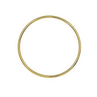 دائرة كبيرة فتح الإطار لينك، قطر 25mm / 18 قياس، 1 قطعة، 14K الذهب شغلها