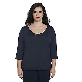 TOM TAILOR MY TRUE ME Loose Fit Shirt T, 10360/Royal Navy Blue, 46 Woman