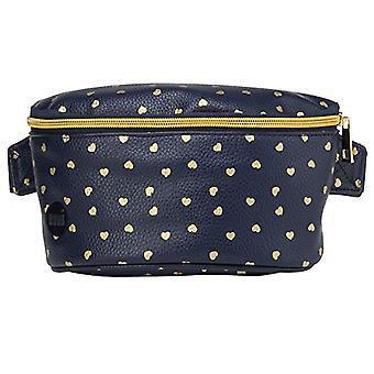 Mi-Pac Bum Bag-Marsupio Sport, 24 cm, with heart, color: Navy blue/gold