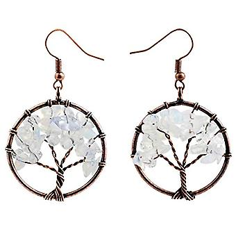 KYEYGWO Pendientes de mujer con árbol de la vida, hechos a mano, con hilo de cristal y cristales, para niñas y Liga, color: Ref. 0635946999066