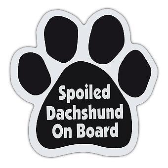 """المغناطيس، الكلب باو، مدلل Dachshund على متن الطائرة، 5.5 """"X 5.5"""""""