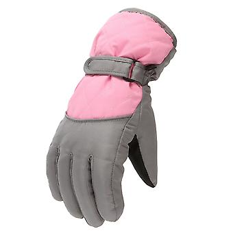 Kids Fashion Winter Warming Snow Windproof Mittens Simple Outdoor Sports Skiing