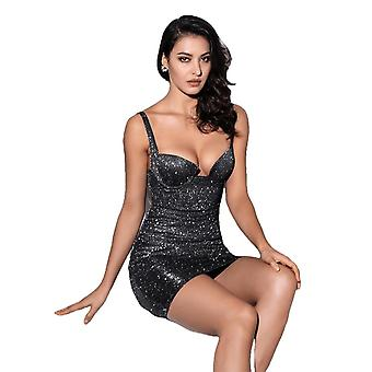 Sexy Strapless Black Glitter Elastic Body Going Out Dress For Females
