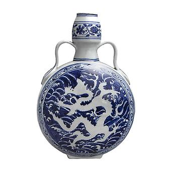 Factory Direct Sell Antique Chinese Dragon Blue and White Porcelain Vase