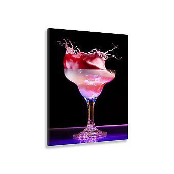 Schilderij decoratie keuken roze cocktail