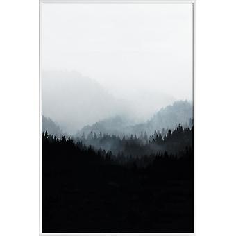 JUNIQE Print -  Woods 5Y - Wälder Poster in Schwarz & Weiß