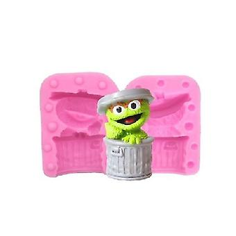 Sesame Street Cartoon Silicone Cake Mold Chocolate Mold Jelly Mold Handmade Soap Mold