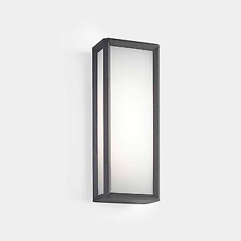 LEDS C4 Skat Ulkona LED Box Seinä Lyhty Kaupunki Harmaa, Valkoinen IP65 21.8W 2700K