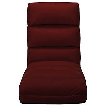 vidaXL chaise de plancher pliant en faux-verre rouge