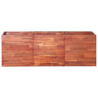 vidaXL Tuin verhoogde bedden Acacia hout 150x50x50 cm