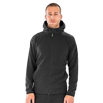 Result Genuine Recycled Mens Micro Hooded Fleece Jacket