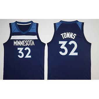 Mens Basketball Jersey Towns Minnesota Timberwolves 22 Wiggins 23 Butler 32 Towns Basketball Jerseys 90s Hip Hop Clothing For Party Sports T-shirt Siz