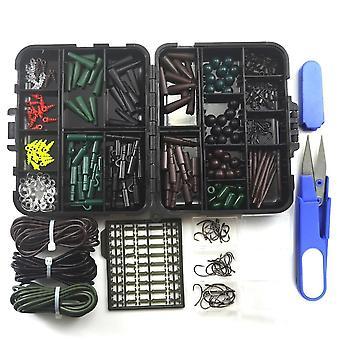 مجموعة متنوعة من سمك الشبوط معالجة الملحقات، مقص خط، سدادة، هوك، قطب، كم مطاطي، الغارق، قفل، تلاعب الشعر الخ.