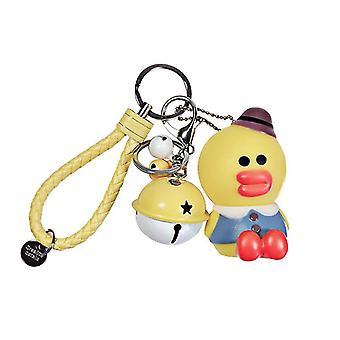 Sally Duck Bag Pendant Keychain Key Ring Car Bag Ornaments