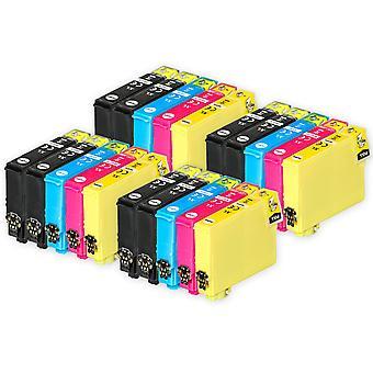 4 Ensemble de 4 cartouches d'encre noire supplémentaires supplémentaires pour remplacer Epson T1285+1281 Compatible/non-OEM de Go Inks (20 Encres)