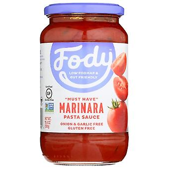 Fody Food Co Saus Pasta Marinara, Koffer van 6 X 19.4 Oz