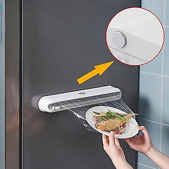 Cling Film Cutter Kitchen Cutting Box Food Wrap Dispenser Kitchen Tool Foil Cling Film Wrap