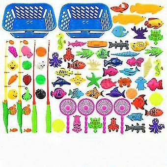 Kinderen jongen meisje vissen speelgoed set pak magnetisch speelwater baby speelgoed vis vierkante hete gift voor