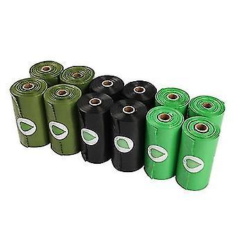 10st Biologiskt nedbrytbar pet garbage bag miljöskydd biologiskt nedbrytbar hundbajspåse (svart)