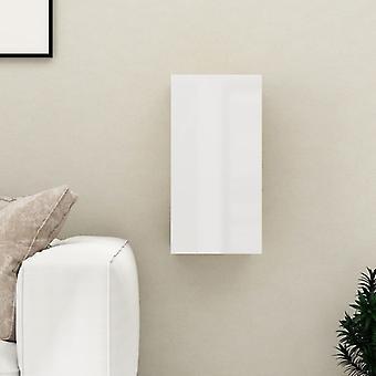 vidaXL armoire tv brillant 30,5x30x60 cm panneau de particules