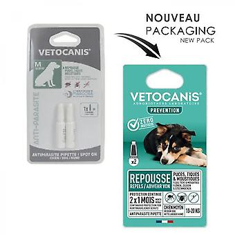 Vetocanis 2 Anti-flea And Anti-tick Pipettes - For Dogs 10-20 Kg - 2x 1 Month Protection