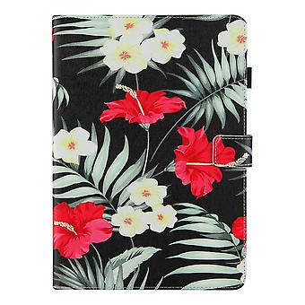 """Case For Ipad 9 10.2"""" Generation 2021 Cover Auto Sleep/wake Rotating Multi-angle Viewing Folio Stand - Black Flowers"""