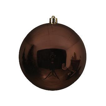 Single Dark Brown 14cm Shatterproof Christmas Tree Bauble Decoration