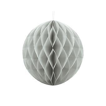 30cm Light Grey Tissue Paper Honeycomb Ball Wedding Party Decoration
