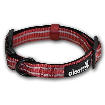 Alcott Essentials Adventure Reflective Collar Red