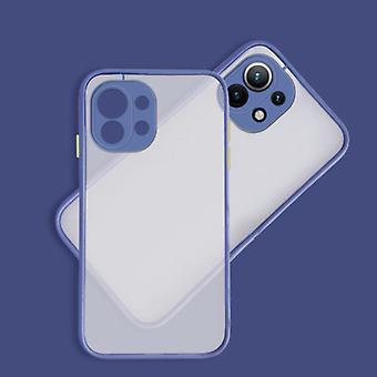 Balsam Xiaomi Mi 10 Case with Frame Bumper - Case Cover Silicone TPU Anti-Shock Dark Blue
