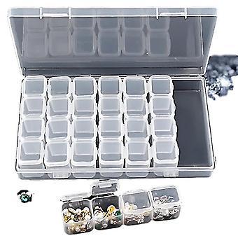 Huishoudelijke opslag containers verstelbare sieraden nail art plastic opbergdoos kralen organisator voor diamant