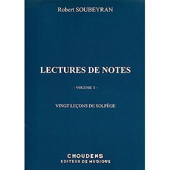 Lectures de Notes - 20 Leçons de Solfège