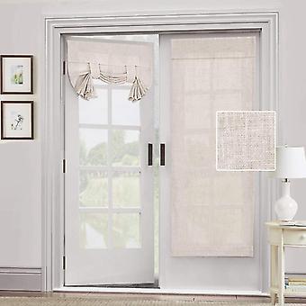 2X dør gardin naturlig sengetøy blandet - personvern fransk dør gardin lys filgtering tricia vindu dør gardin bundet opp skygge, naturlig
