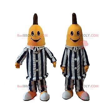 REDBROKOLY.Bananen-Maskottchen im australischen Cartoon-Pyjama