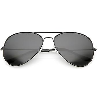 Grand aviateur surdimensionné lunettes de soleil cadre métallique barre transversale mince d'armes 60mm