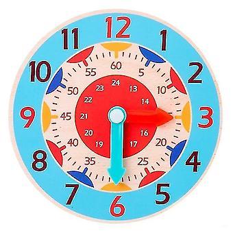 Jigsaw puzzles childrens montessori wooden clock teaching aid toys sky blue