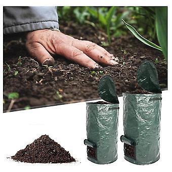 Organiczna torba na kompost ogrodowy Pojemniki na kompost Pojemniki na fermentację odpadów Wielokrotnego użytku (45 * 80 cm 34 galony)