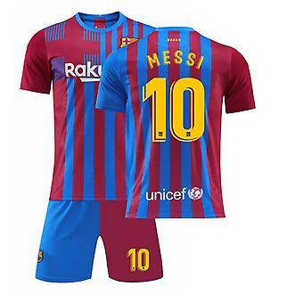 Messi Barcelona Jersey, Jersey T-skjorte-Messi-10, Home Yellow Jersey (barnas størrelse)