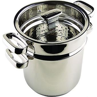 20cm in acciaio inox PASTA pentola a vapore con coperchio in vetro casa cucina professionale