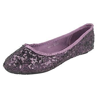 Girls Cutie Flat Sequin Ballerina Shoes